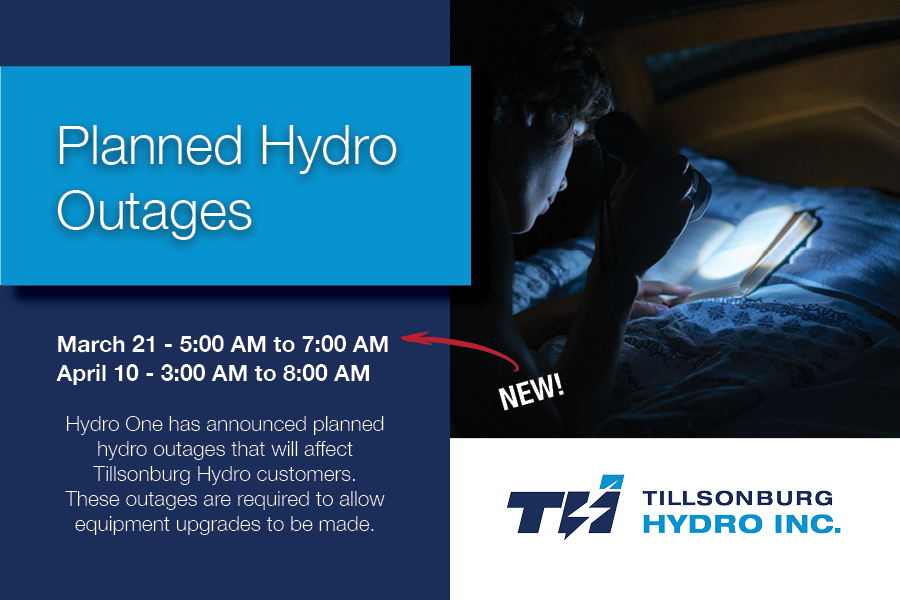 Planned Hydro Outages