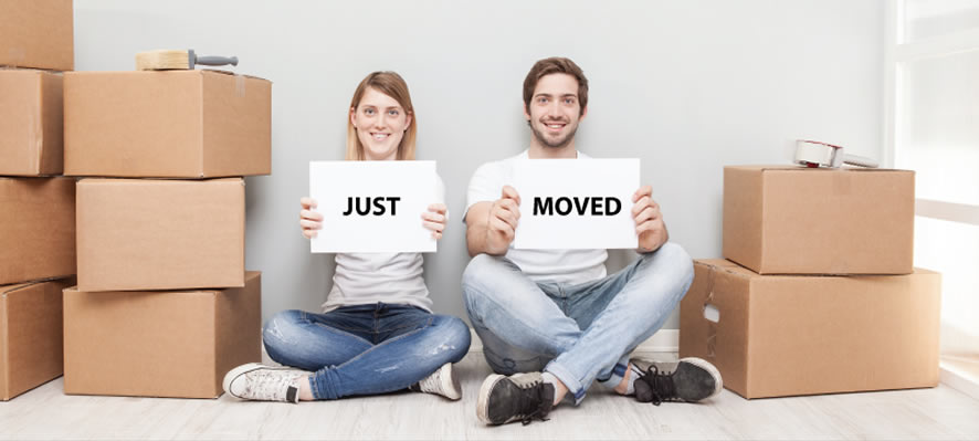 Image Showjng Couple Just Moved House